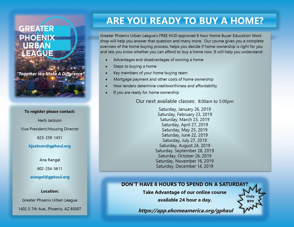 GPUL Homebuyers Workshop Schedule 2019