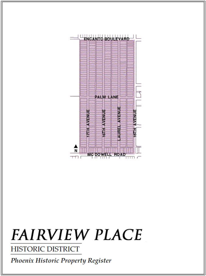 Fairview Place Historic Neighborhood Map