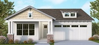 picture of front of new built home