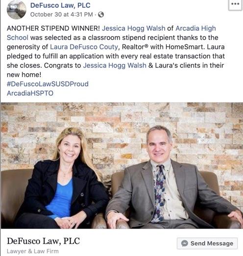 DeFusco Law Classroom Stipend